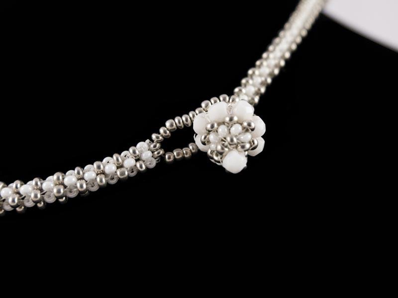 """""""Weiße Perle"""" Halskette Verschluß"""