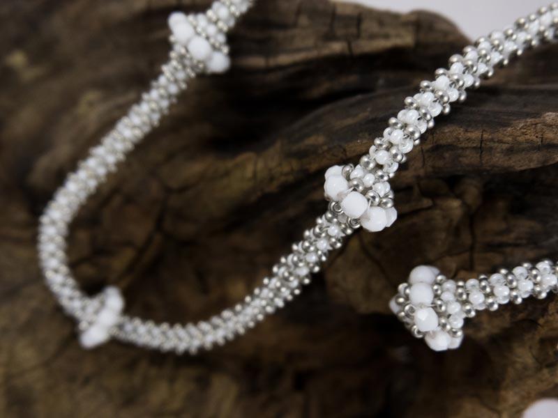 """""""Weiße Perle"""" Halskette"""
